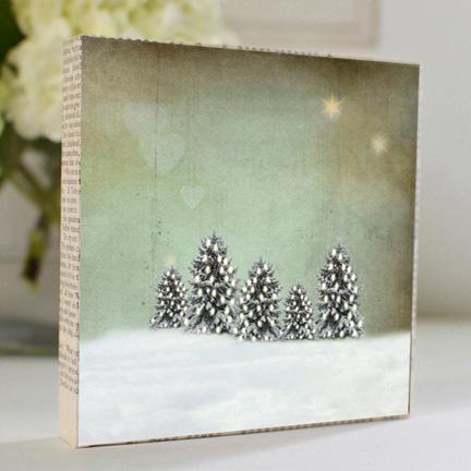 All the Little Trees Art Block