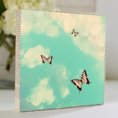 Butterfly Sky Art Block
