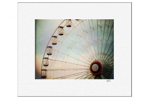 MKC Photography Ferris Wheel Matted Print