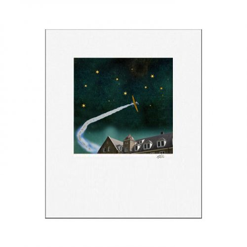 MKC Photography Alone With The Stars Matted Print