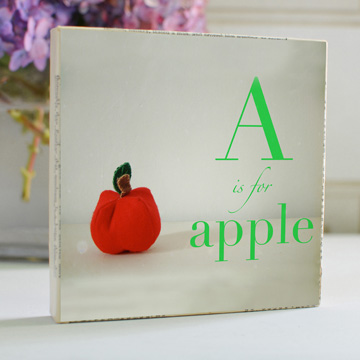 A is for Apple Art Block