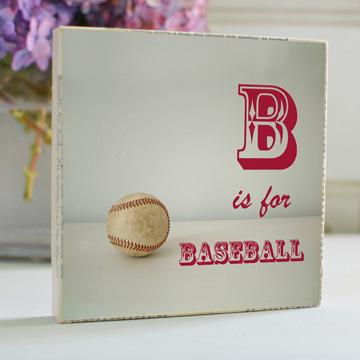 B is for Baseball Art Block