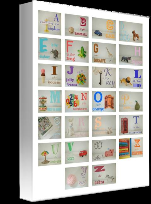 MKC Photography Boy Alphabet Canvas