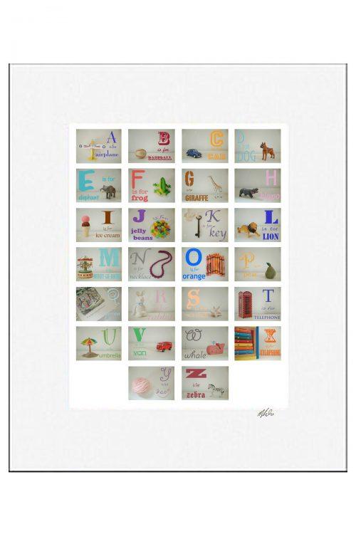 MKC Photography Boy Alphabet Matted Print
