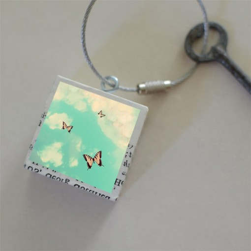 Butterfly Sky Keychain