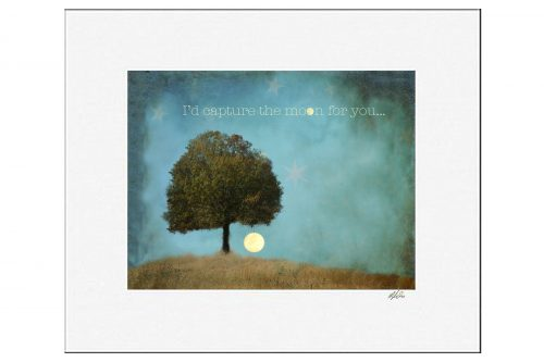 MKC Photography Capture The Moon Matted Print