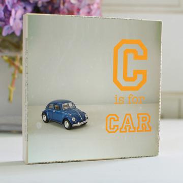 C is for Car Art Block