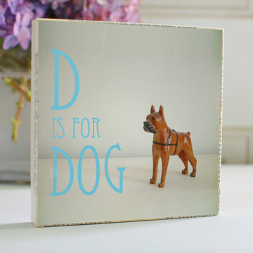 D is for Dog Art Block