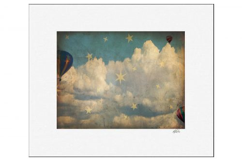 Flying In The Stars Matted Print Sample