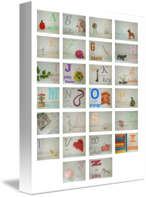 MKC Photography Girl Alphabet Canvas