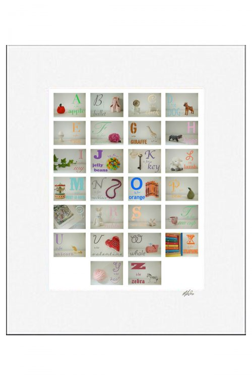 MKC Photography Girl Alphabet Matted Print