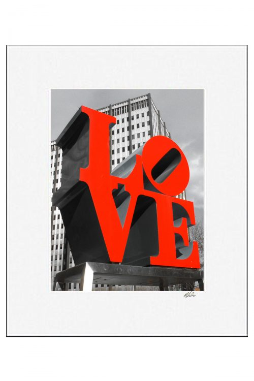 MKC Photography Love Park Matted Print
