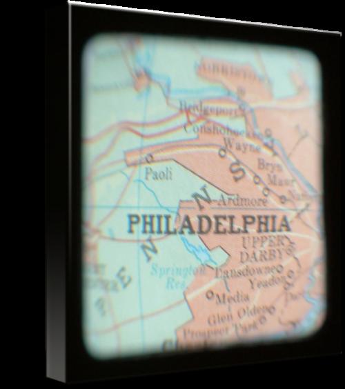 MKC Photography Philadelphia Map Canvas