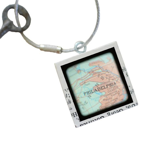 Philadelphia Map Keychain
