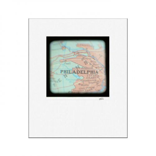 MKC Photography Philadelphia Map Matted Print