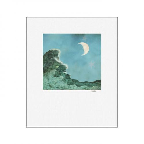 MKC Photography Pull of the Moon Matted Print