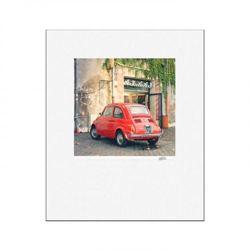 MKC Photography Red Fiat Matted Print