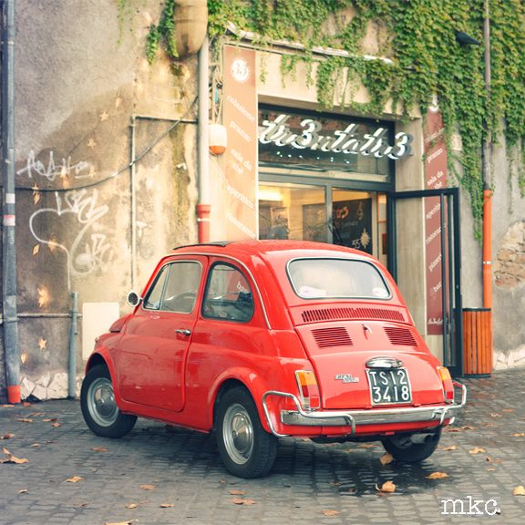MKC Photography Red Fiat Rome