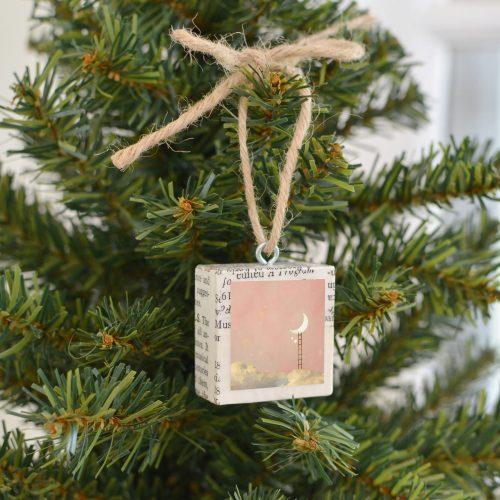 Silver Hearts Ornament