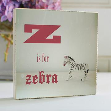 Z is for Zebra Art Block