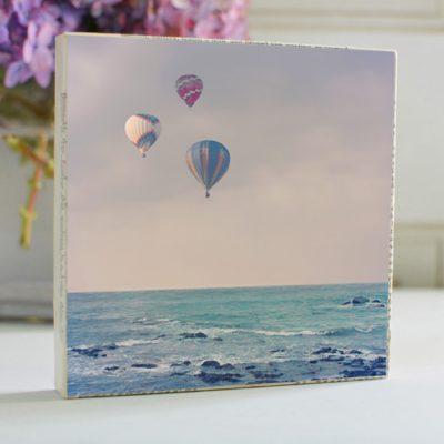 Balloons At Sea Art Block