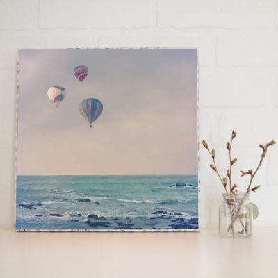 Large Art Block Balloons at Sea