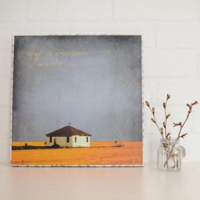 Large Art Block Home