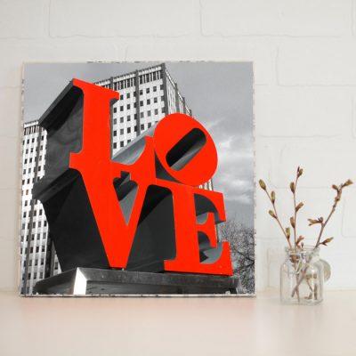 Large Art Block Love Park