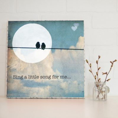 Large Art Block Sing a Song
