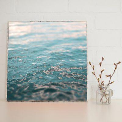 Large Art Block Sunset Water