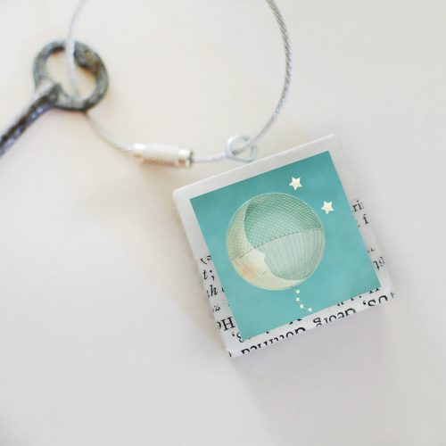Moon Balloon Keychain