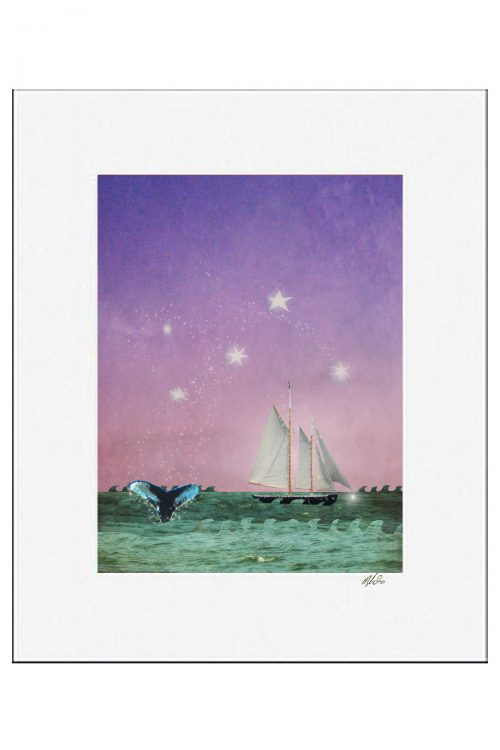 MKC Photography Whales Tale Matted Print