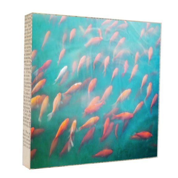Keep Swimming Art Block