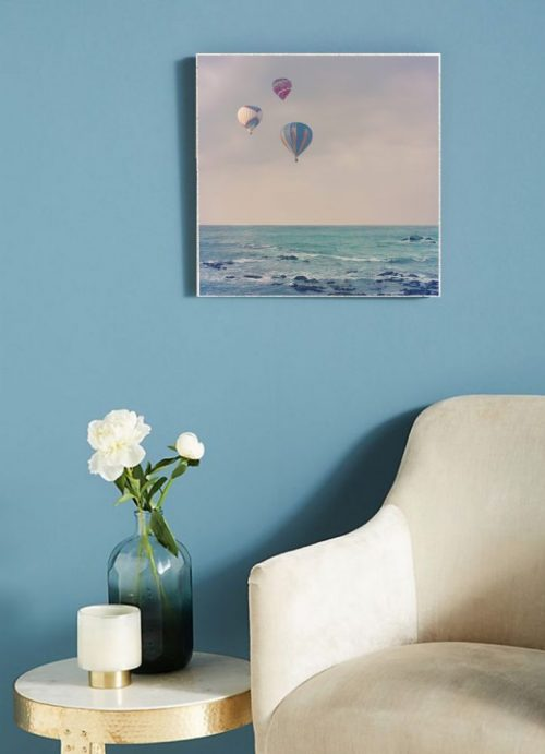 MKC Photography Balloons At Sea Large Art Block Lifestyle