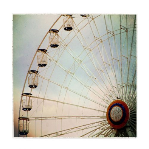 MKC Photography Ferris Wheel Large Art Block