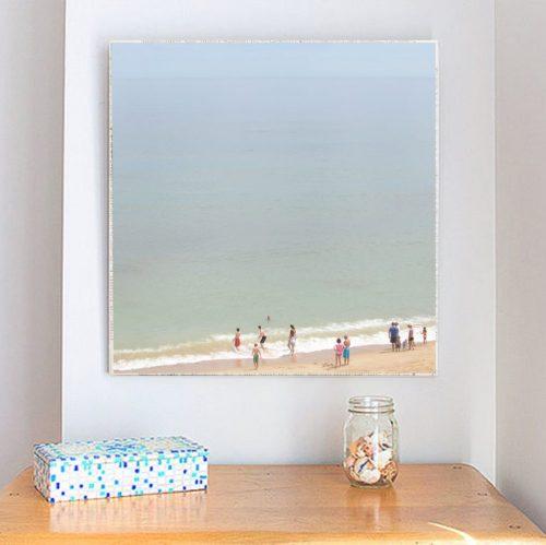 MKC Photography Marconi Beach 2 Large Art Block Lifestyle