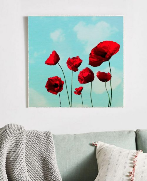 MKC Photography Poppies Large Art Block Lifestyle