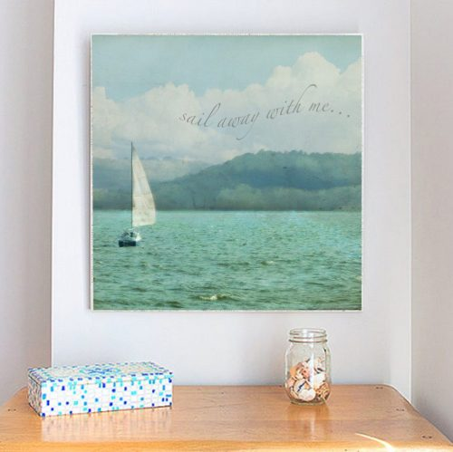 MKC Photography Sail Away Large Art Block Lifestyle