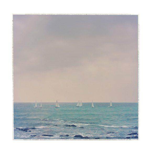 MKC Photography Sailboats at Sea Large Art Block