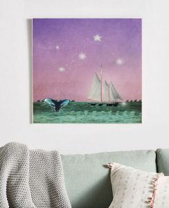 MKC Photography Whales Tale Large Art Block Lifestyle