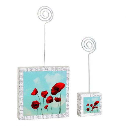 Poppies Large & Small Photo Holders
