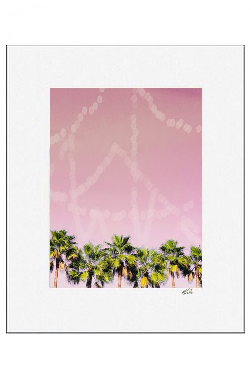 Row of Palms Matted Print