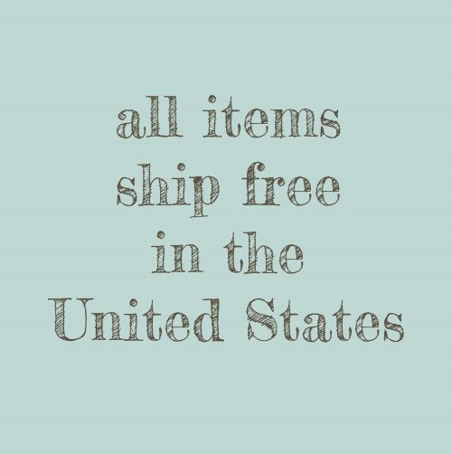 All items ship free in the United States