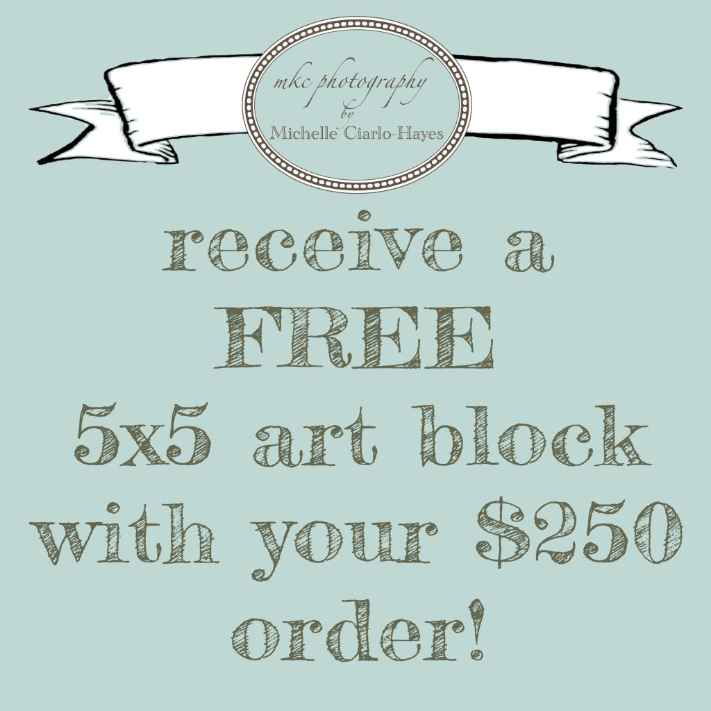 Free Art Block with $250 Order