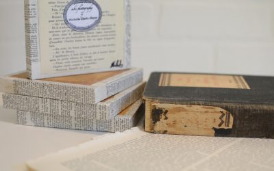 Behind the Scenes: Salvaged Wood + Salvaged Book Paper
