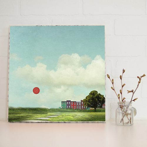Red Balloon Large Art Block