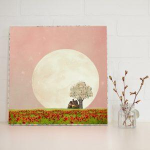 Strawberry Moon Large Art Block