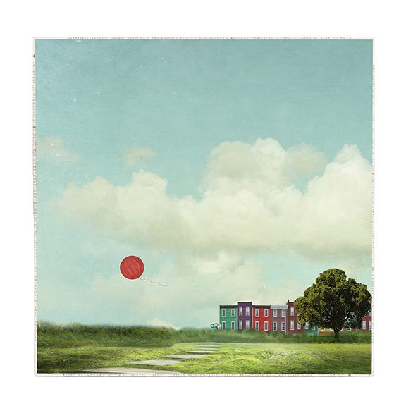 Red Balloon Large Art Block