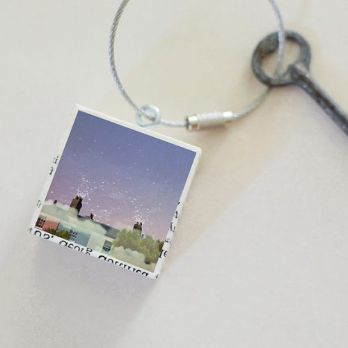 Rooftops At Night Keychain