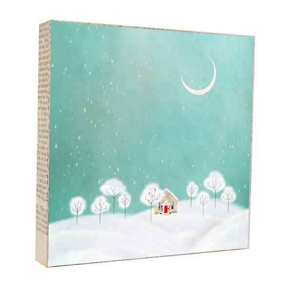 Snowy Night Art Block